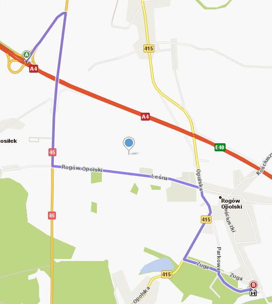 Dojazd do Zamku w Rogowie Opolskim