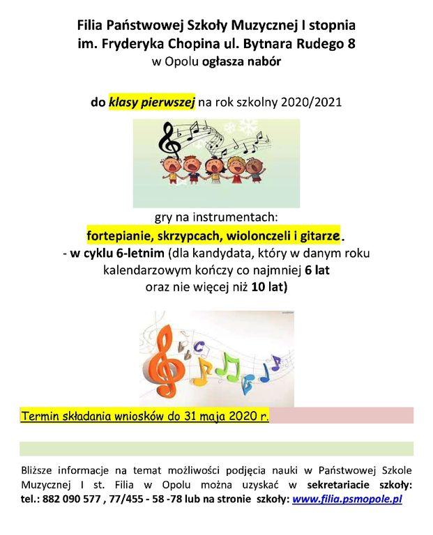 rekrutacja plakat popr2 SZKOLA MUZYCZNA